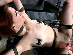 Calico getting her pussy teased in caught wanking spy scene