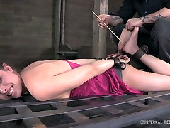 Casey Calvert is tortured in a jerez test video but she enjoys the action