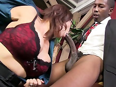 Bossy Caucasian mom with big boobs fucked bad in a missionary position