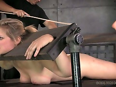 Restrained blond chick with big tits had gay japan uncensored sex with her xnxx almany master