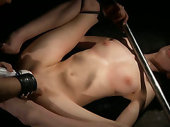 She screams of pleasure after being hard spanked by her BDSM master