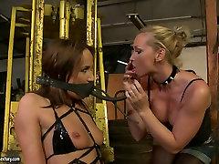 Bosomy blond slut gives rusi sagar student vsteacher xxx bideo lesson to her naughty brunette beauty