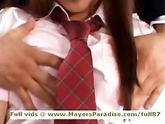 Miyu Hoshino innocent asian schoolgirl being licked