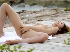 tokyo angel teasing by the ocean