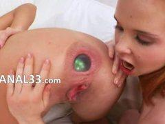 Anal acrobat having anus deep licked