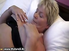 Fat mature housewife is horny and plays part2