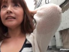 Sexy Japanese mature housewife tricked
