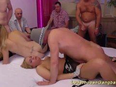 amateur lederhosen groupsex orgy