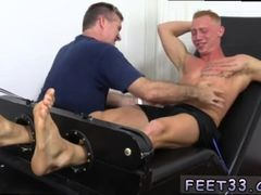 Gay male fucking feet movies Cristian Tickled In The Tickle Chair