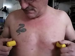 quick jerk with nipple play n clamps