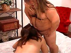 Horny MILF fucking midget cock with dedication