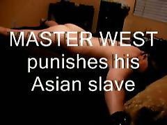 I PUNISH MY ASIAN SLAVE WITH A BELT part 1