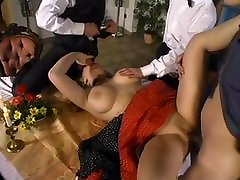 Big Titi Girl Gangbanged in Restaurant