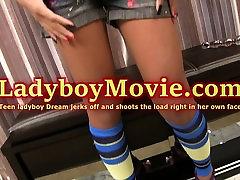 Teen Ladyboy Dream Strips n Strokes