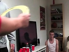 Ass toying and jerking off in hazing ritual