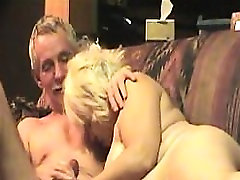 Chunky mature woman engages in wild sex with her husband on