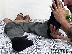 Black men nude legs apart gay Caleb Gets A Surprise Foot Job
