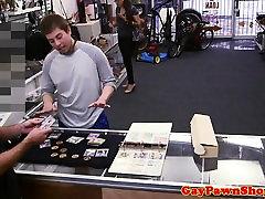Pawnshop jock baited and double facialized