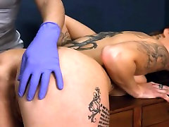 angelic hardcore BDSM rope sex with anal action