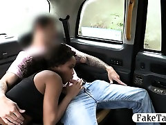 Ebony sucks and fucks in the backseat in exchange for money