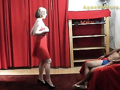 BUSTY MILF dances and does gangbang so hard crying show