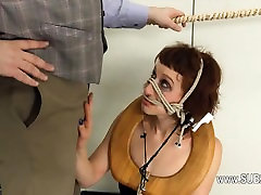 Extreme BDSM toilet slut banged anally hard