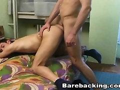 Gay Lovers enjoys barebacking cumshot