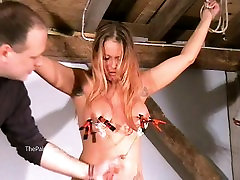 Busty amateur bdsm of screaming milf Gina