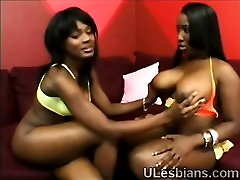 Black BBW gets big booty lezzie to please her coochie