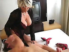 Horny Blonde Cougar Sitting on His Face