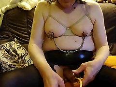 crossdresser selfmade nipples pain