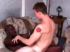 Lucky white gay suck and fuck two big cocks