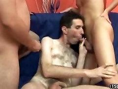 Hot Threeway Gays Sex Thrills