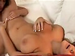 Teen and mature lesbian going at it.
