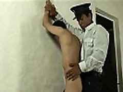 Studly mature guard finds him a piece of twink ass