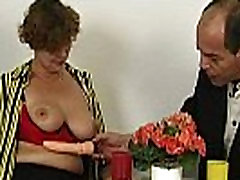 Hairy chubby stepmom taking cock in mouth too hot then get fucked in pussy long