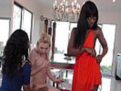 Lesbian Sexy Teen White Babe Fucked Anally With Strapon Toy Bu Her Black Roommate 25