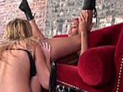 Ebony Lesbian Girl Fuck Anally Her Friend With Thick Strapon Dildo 24