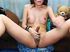 Seductive Hot Tranny Naked and Masturbate