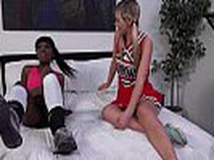 White Lesbo Teen Fucked Anlly With Strapon Dildo By Black Friend 3