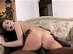 Cuckold jerks off while hot wife sucks jet black monster