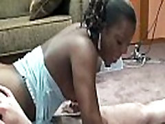 Horny MILF Anastasia gets her tight ebony twat pounded