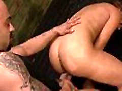 Horny Asian babe gets tied up and fucked hard
