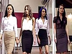 4 Hot interns sucks and fucks for one work full-time