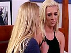 Two hot blondies Tiffany and mom Briana goes 69 pussy licking