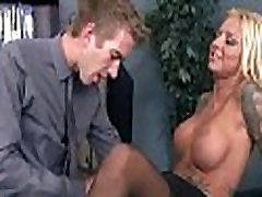 Big titted babe helps her CEO get off while at work 10