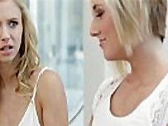 Blonde teens Kate and Rachel in hot 69 lesbian sex