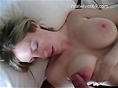 Big Boobed Amateur happy bertday playing with Cock and Receives Cumshot on Realwives69.com