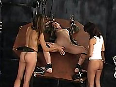 Female POW cutiesdoporn lilly role player tortured using electric toys by two lesbians-Get more girls like this on