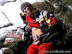Gay solo cum tubes Roma Smokes In The Snow